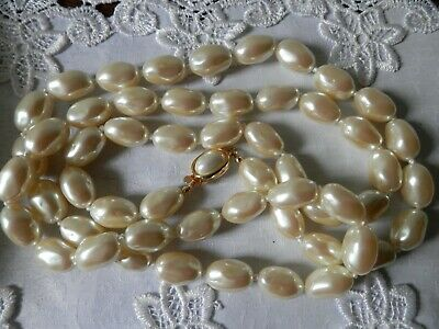 Fabulous Vintage Carolee  Hand Knotted Baroque Pearl Necklace.