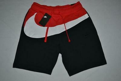 8f893587883 AUTHENTIC NIKE MENS Hbr Large Swoosh Sweat Shorts Red Black All Sizes New