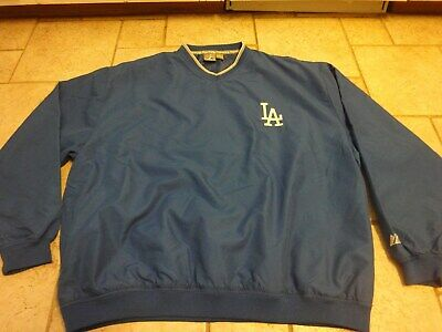 189e8bc15afaf MAJESTIC DODGERS PULLOVER Jacket Adult 2XL Blue Pull Over MLB ...