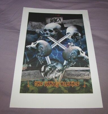 Promo Poster SLAYER The Unholy Alliance Lamb of God Mastodon