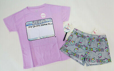 NWT Justice Girls Size 6//7 8 10 12 14//16 or 18//20 Pink Soft Unicorn Pant Pajamas