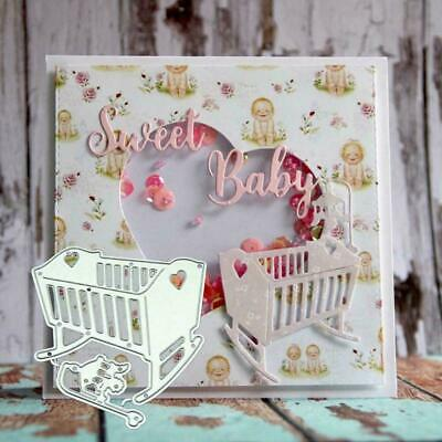 Baby Crib Metal Cutting Dies Metal Stencil DIY Scrapbooking Album Paper Crafts 2