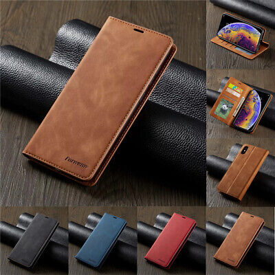 For iPhone 11Pro SE XR XS Max 6 7 8 Plus Magnetic Flip Wallet Leather Case Cover