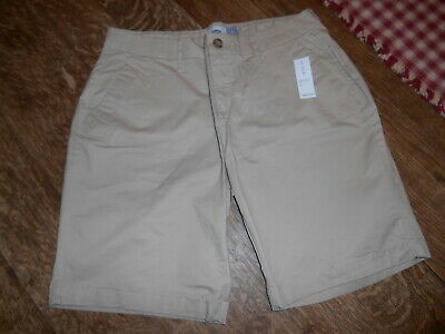 5f356b9c2c Old Navy Women's Mid-Rise Twill Shorts Everyday Bermuda 9-Inch Inseam Size 4