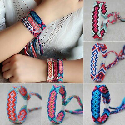Boho Women Handmade Colorful Rope Bracelet Fashion Braided Bangle Jewelry Gfits