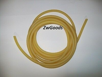 10 Continuous Feet 1/8 I.D x 3/64 w x 7/32 O.D Natural Latex Rubber Tubing Amber