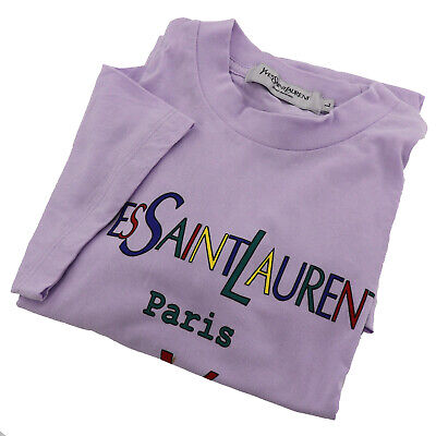 Yves Saint Laurent Short Sleeve Tops T-shirt L Light Purple Malaysia Auth X288 M