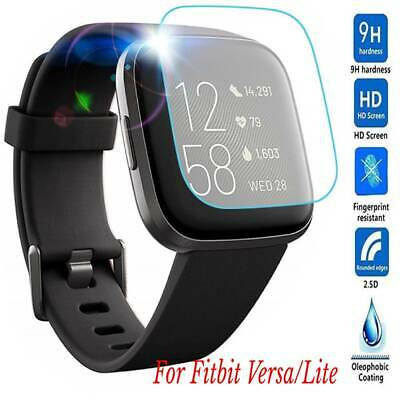 Fitbit Versa Lite Full Coverage Tempered Glass Screen Protector Guard