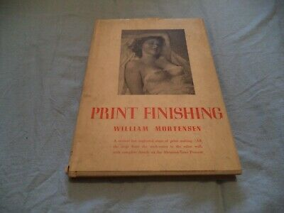 Print Finishing Scarce Vintage Book     Must See