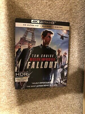 Mission:Impossible-Fallout(4K Ultra HD+Bluray+Digital) Brand New