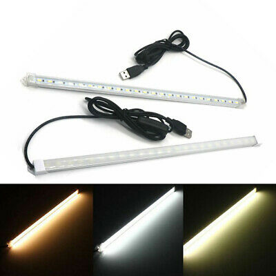 USB 5630 Hard Strip Light 35cm 24led SMD With On/Off Button + PC Cover DC 5V