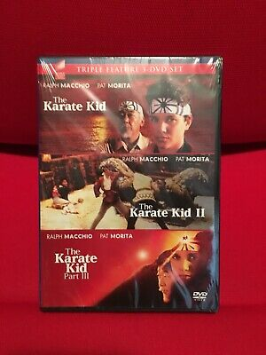 The Karate Kid Parts 1,2,3 Triple Feature 3-DVD SET New Sealed Ralph Macchio