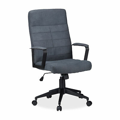 Ergonomic Swivel Executive Chair with Wheels, Office Desk Chair, Grey