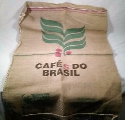 "24""X 38"" Jute Burlap Advertising Coffee Bean Sack  Cafe Do Brazil Columbia"