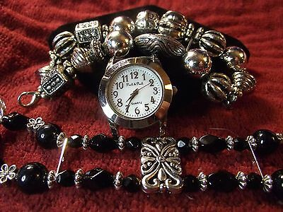 Peck & Peck Woman's Watch with 2 Bands **Night & Day** ME003