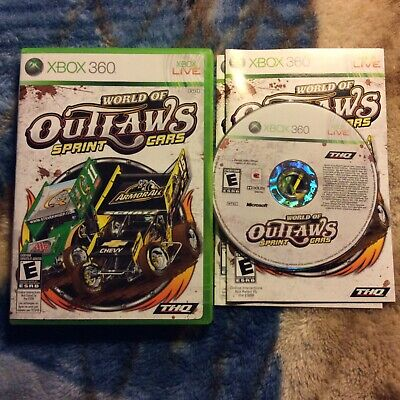 World of Outlaws: Sprint Cars (Microsoft Xbox 360, 2010) Complete