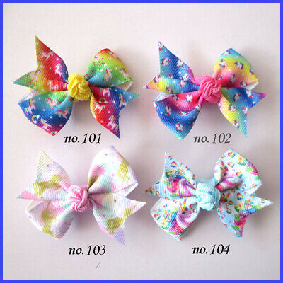 """50 BLESSING Women Girl Fashion 2.5/"""" Embroidery Butterfly Clip Accessories Baby"""