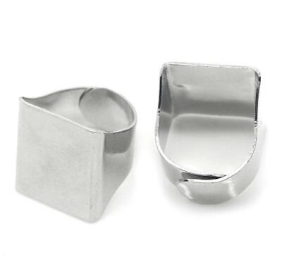 5 Adjustable Ring Base - Silver Finish - Lead Nickel Cadmium Free - Size 5.75 -