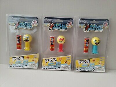 2017 World's Smallest PEZ Emoji Set of 3 Mint In Packages