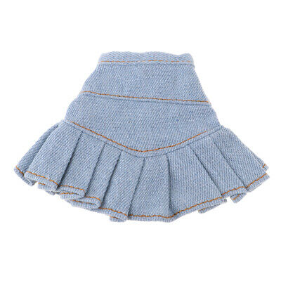 Light Blue Jeans Skirt Casual Wear Outfits For Blythe Doll Clothes Kids Toys