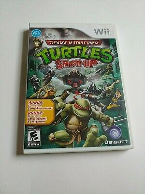Teenage Mutant Ninja Turtles Smash Up (Nintendo Wii, 2007)  Comic inc. No Manual