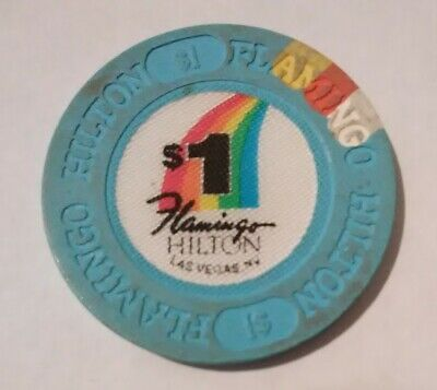Flamingo Hilton Casino Las Vegas, Nevada $1.00 Poker Chip Great For Collection!