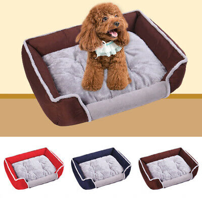 Large Pet Bed Sofa Dog Cat Cushion Nest Puppy Soft Warm House Kennel Mat qwe
