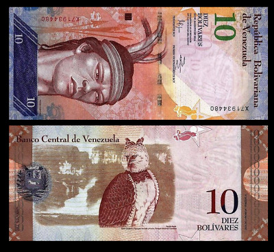 World Paper Money Venezuela 20 Bolivares 2013 Series X8 @ Crisp UNC