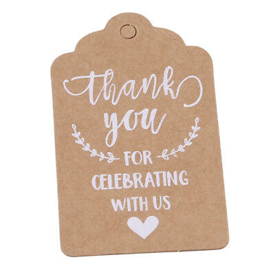 Trendy Kraft Paper Hanging Tags Letter Shaped Party Favor Label Price Cards D