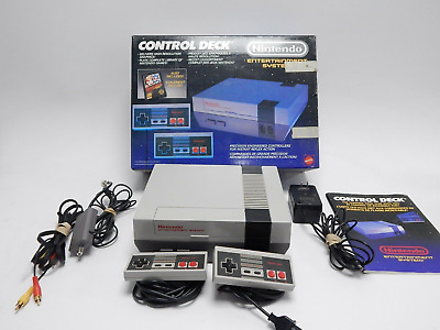 Nintendo Entertainment System NES Control Deck Complete Box CIB Mario/Duck Hunt