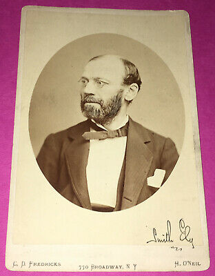 Signed Vintage Cabinet Card Photo of Smith Ely Jr.  Mayor of New York, NY  1880s