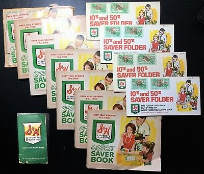 Lot of  Vintage S&H Green Stamp Quick Saver Books Full of Stamps (BI#74/180423)