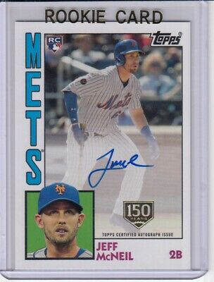 Jeff McNeil 2019 Topps S1 '84 Autographs (On-Card) 150th logo #'d/150 Rookie RC