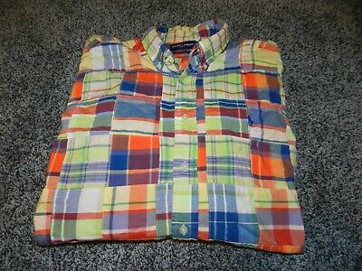 4d76279f Men's Ralph Lauren Polo Golf Ls Button Down Shirt Multi Color Quilt Pattern  Lge