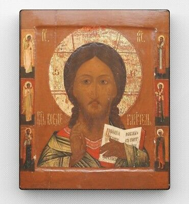 Copy of an antique Orthodox icon. Holy face of Christ. Vologda. Wall Decor