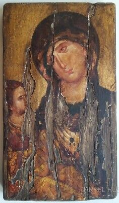 Byzantine Orthodox Icon. Hilandar Theotokos. Religious. Authentic icon.