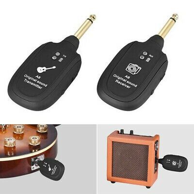 Rechargeable System Bass Instrument Guitar Pickup Receiver Transmitter Wireless