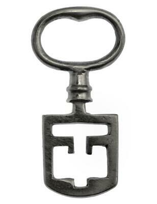 "Victorian ODELL Latch Key 1¾"" Small Size - Edinburgh Tenement - ref.k606"