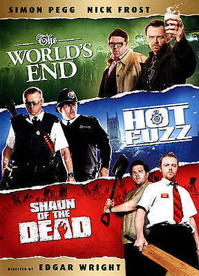Shaun of the Dead/Hot Fuzz/The Worlds End (DVD, 2013, 3-Disc Set)