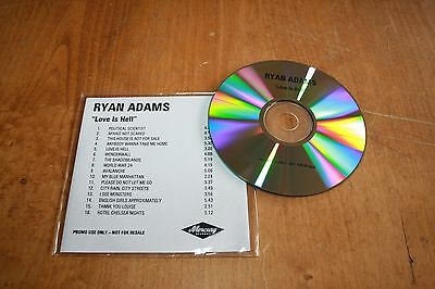 Ryan Adams - UK PromoCD / Love Is Hell - 16 track 2003