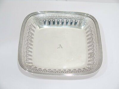 8 7/8 in - Sterling Silver Tiffany & Co. Antique Openwork Square Serving Plate