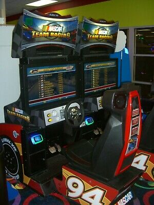 2 Nascar Team Racing Video Arcade Game / Pinball /Ticket Redemption / Global VR