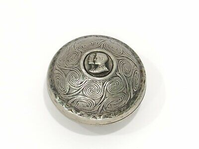 1.5 in - Sterling Silver ilias LALAoUNIS Antique Greek Pill Box