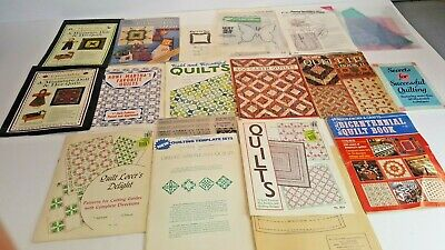 Lot Of Vintage McCall's and Various Quilting Books Templates Patterns.