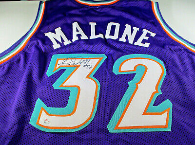 a3cc44515 Karl Malone / Nba Hall Of Fame / Autographed Utah Jazz Custom Jersey / Coa