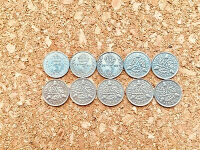 GB George V .500 Silver Threepence 1920 - 1936 Pick Your Year FREE UK P&P