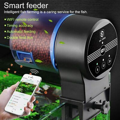 Automatic Fish Feeder WIFI Dispenser Programmable Food Tank Electronic Timer