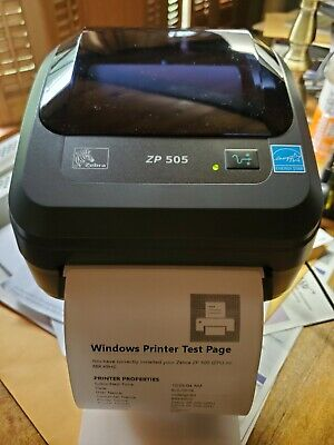 ZEBRA ZP 550 Label Thermal Printer USB With Power Supply DHL