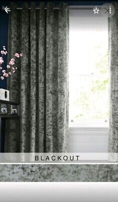next crushed velvet blackout thermal lined curtains 168x229 rrp £155