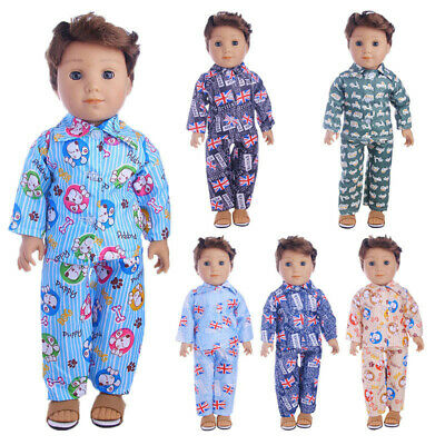 "Hot Latest Handmade pajamas 2-piece set Fits 18"" Inch American Boy Doll Clothes"
